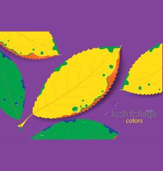 Lush foliage colors vector