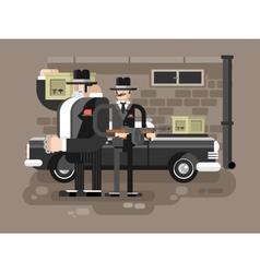 Mafia man character vector