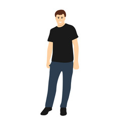 male model on a white background vector image