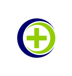 Medical health solutions center vector