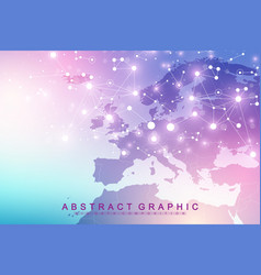 Nano technologies abstract background cyber vector