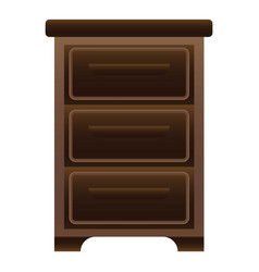 office drawer icon cartoon style vector image