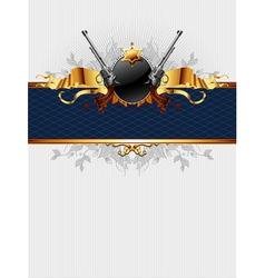 Ornate frame with guns vector