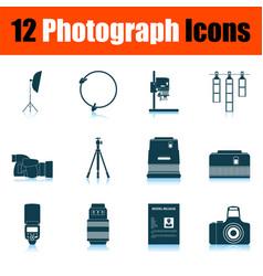 Photograph icon set vector