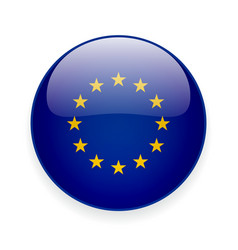 round icon with flag european union vector image