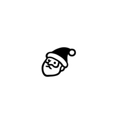 santa claus isolated icon vector image