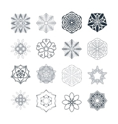 Set of abstract floral and circular vector