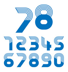 set ten numbers form zero to nine vector image