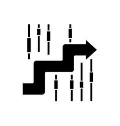 sideways - finance analysis icon vector image
