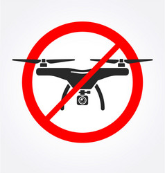 simple no drone icon silhouette vector image