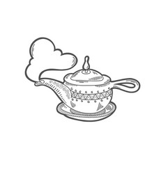 sketch drawing icon aladdin magic lamp vector image