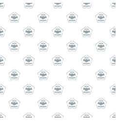 social business pattern seamless vector image
