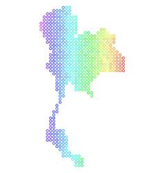 Spectral cirle dot thailand map vector