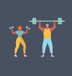 strong man and woman vector image