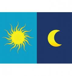 sun moon vector image