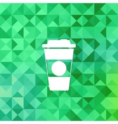 Takeaway coffee cup iconTriangle background vector image