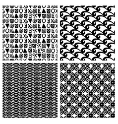 Traditional print fashion seamless patterns vector