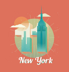 usa new york twin towers world trade center vector image
