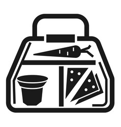vegan lunchbox icon simple style vector image