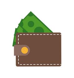 wallet money dollar bill cash image vector image
