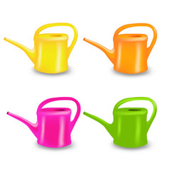Watering can collection vector