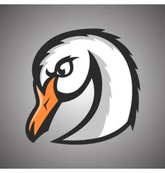 white swan Sport mascot vector image