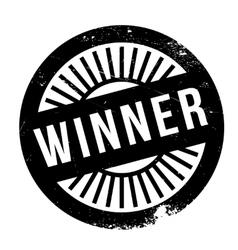 Winner stamp rubber grunge vector image