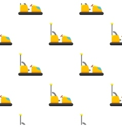 Bumper car icon in cartoon style isolated on white vector image