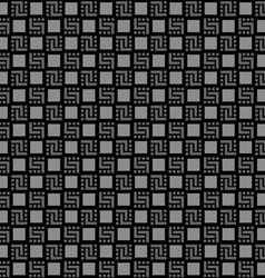 Checkered black seamless pattern vector image vector image