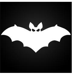 halloween flying white bat vector image vector image