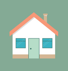 house flat icon flat style vector image