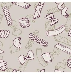 Italian Pasta seamless pattern collection vector image