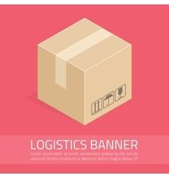 logistics banner vector image