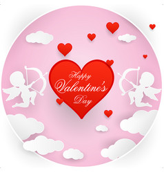 love and valentine day origami vector image vector image