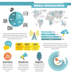 Media infographics vector image