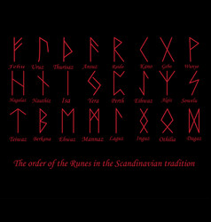 red rune metal runes vector image