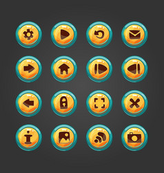 Set of button for game design vector image