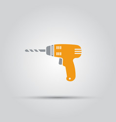 yellow drill isolated colored icon vector image