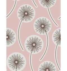 dandelion seamless floral background vector image
