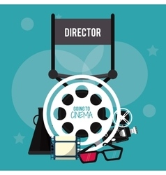 director chair movie film cinema icon vector image