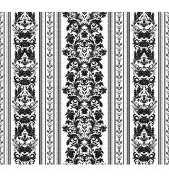 Hand drawn seamless stylized foliage striped vector image