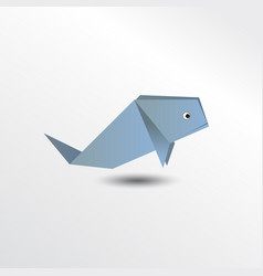 origami whale vector image vector image