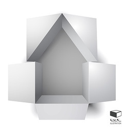 Paper box of an apartment house vector image vector image