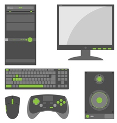 Stylish Simple External Computer Parts vector image