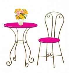 table chair vector image vector image