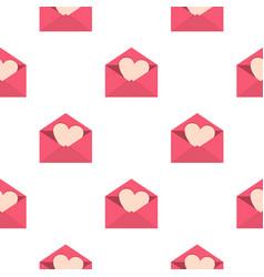 valentine heart pattern seamless vector image