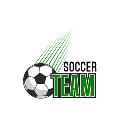 football ball icon for soccer team badge vector image vector image