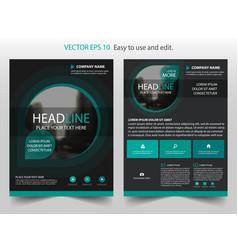 green black brochure annual report leaflet flyer vector image