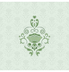 Green classic seamless vector image vector image