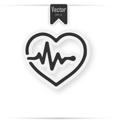 paper medical heart background concept vector image vector image